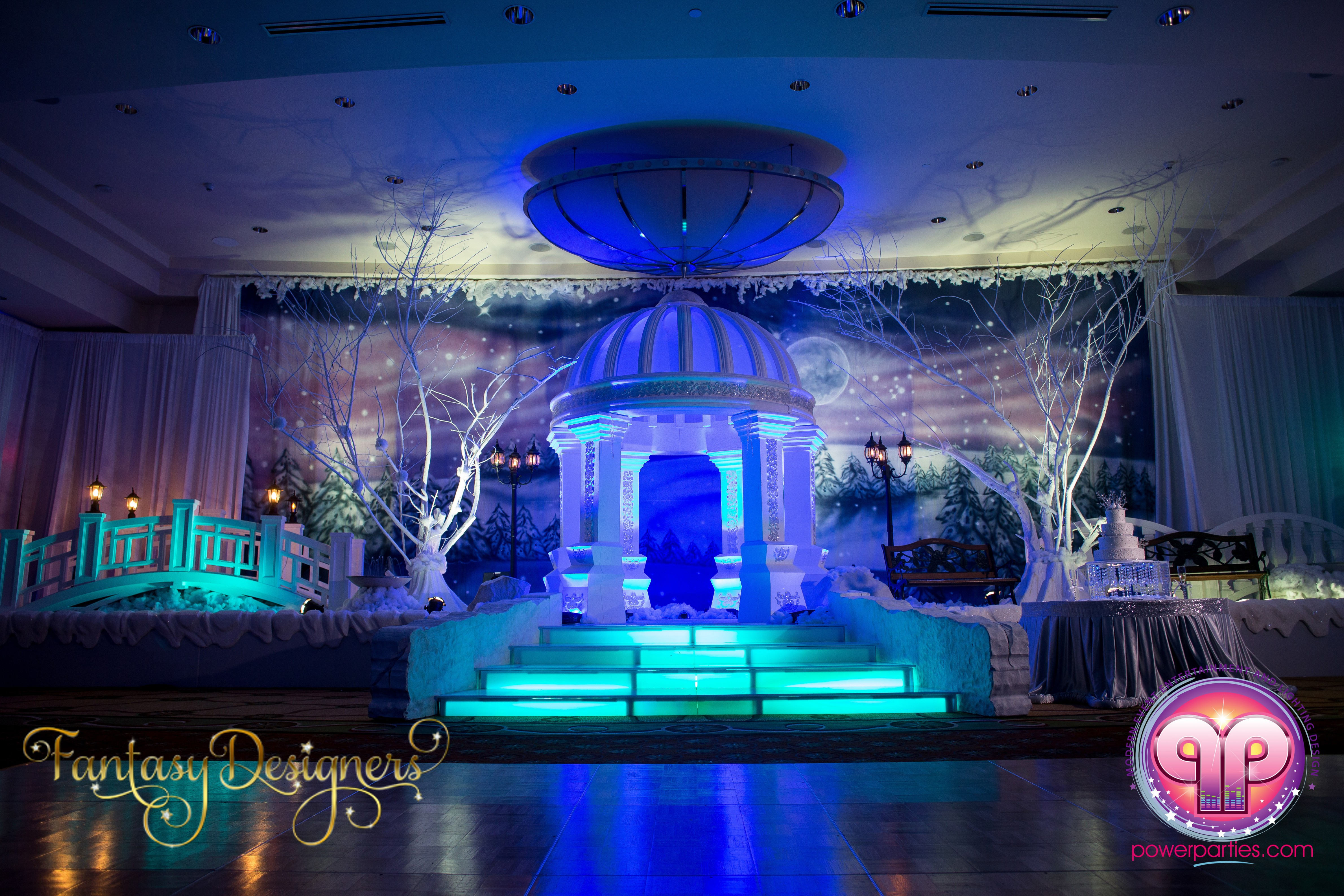Vip Quince In Miami Florida Winter Wonderland Theme Stage