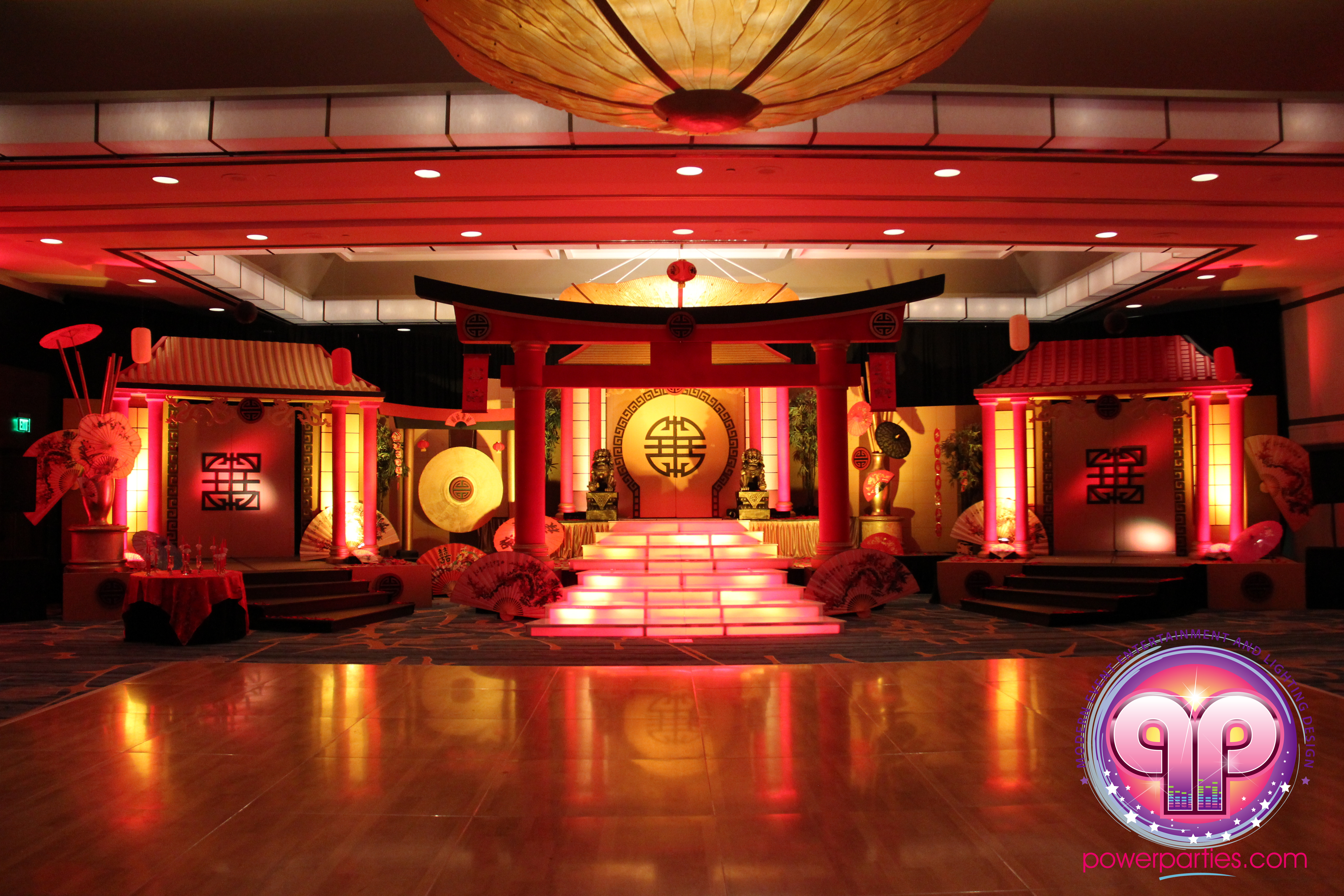 Chinese themed quince stage and decor for natalies quince in miami power parties blog junglespirit Image collections